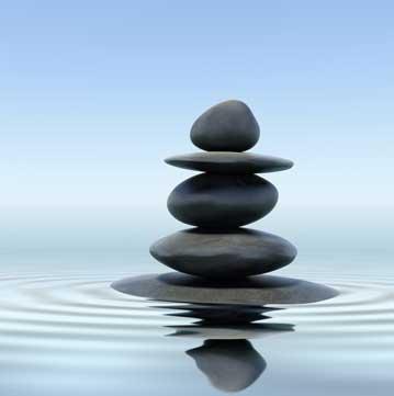 Herbalism stack of stones